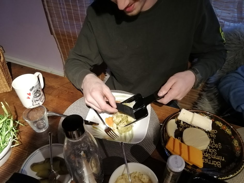 Serving Raclette - The Cheese Shark