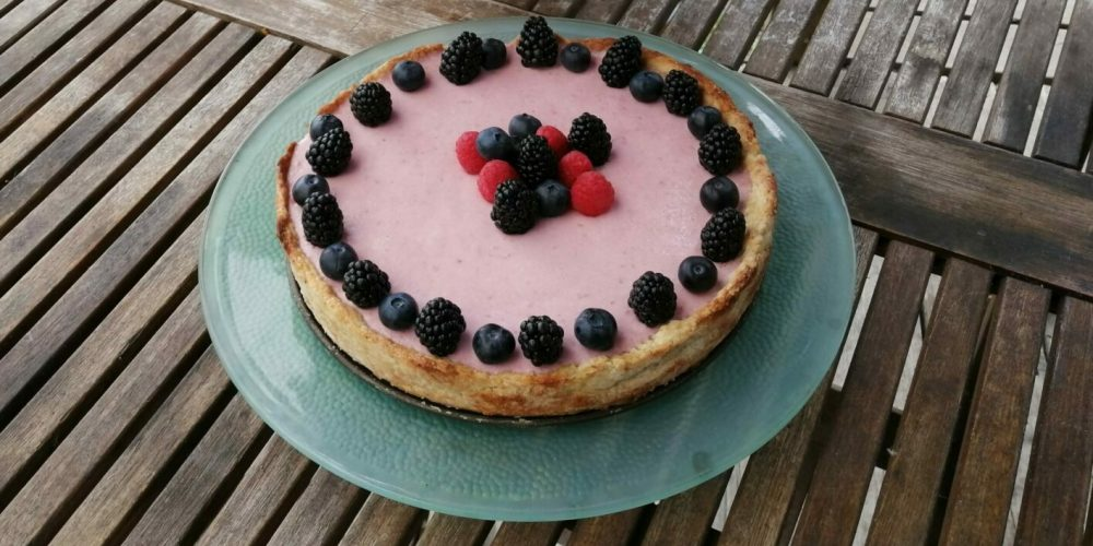Raspberry Quark Cake - The Cheese Shark